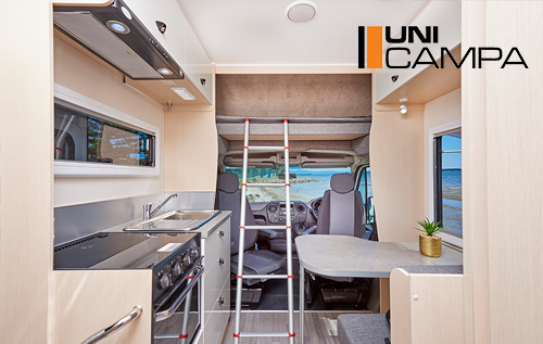 For close to the price of a 2nd hand motorhome your BRAND NEW UniCampa Motorhome is packed with features to make your life on the road enjoyable, easy and fulfilling.