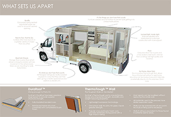 With exclusive leading edge technology like Duraroof & ThermaTough Wall, your Sunliner Motorhome is built tough.