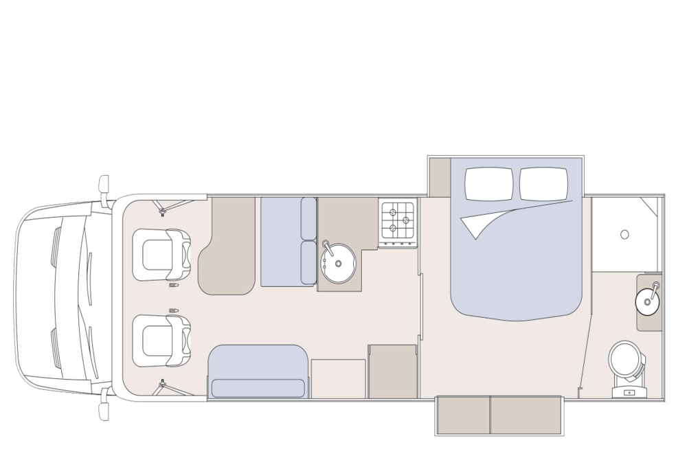 The Layout of the Sunliner Olantas 531.