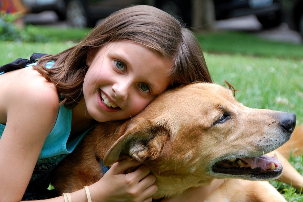 dogs help kids