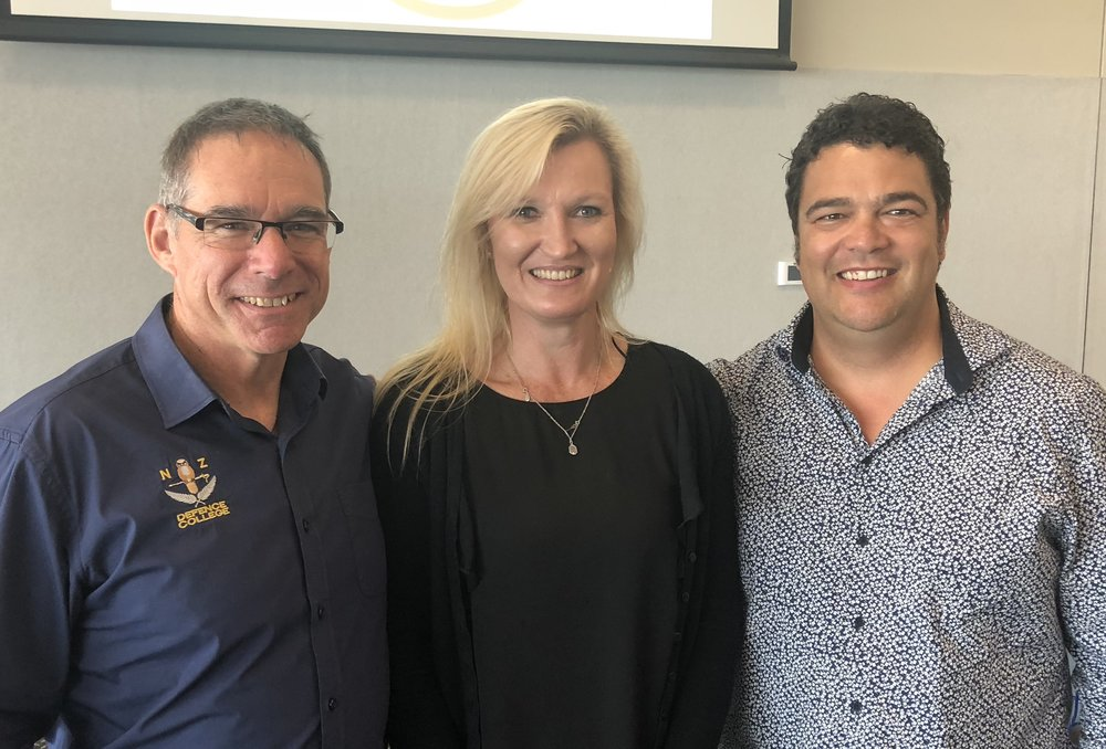 Height CEO Warner Cowin was invited to speak to serving defence personnel looking to transition into business. Warner is pictured on the right above, with Charlie O'Hara Smith (left) and Heather Dickson (centre).