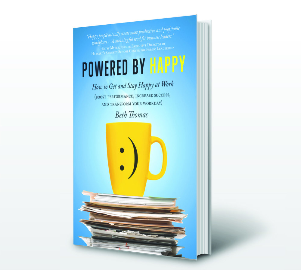 How to Get and Stay Happy at Work - The only pocket-sized book packed with ways to boost not only workplace happiness, but also you and your company's performance.