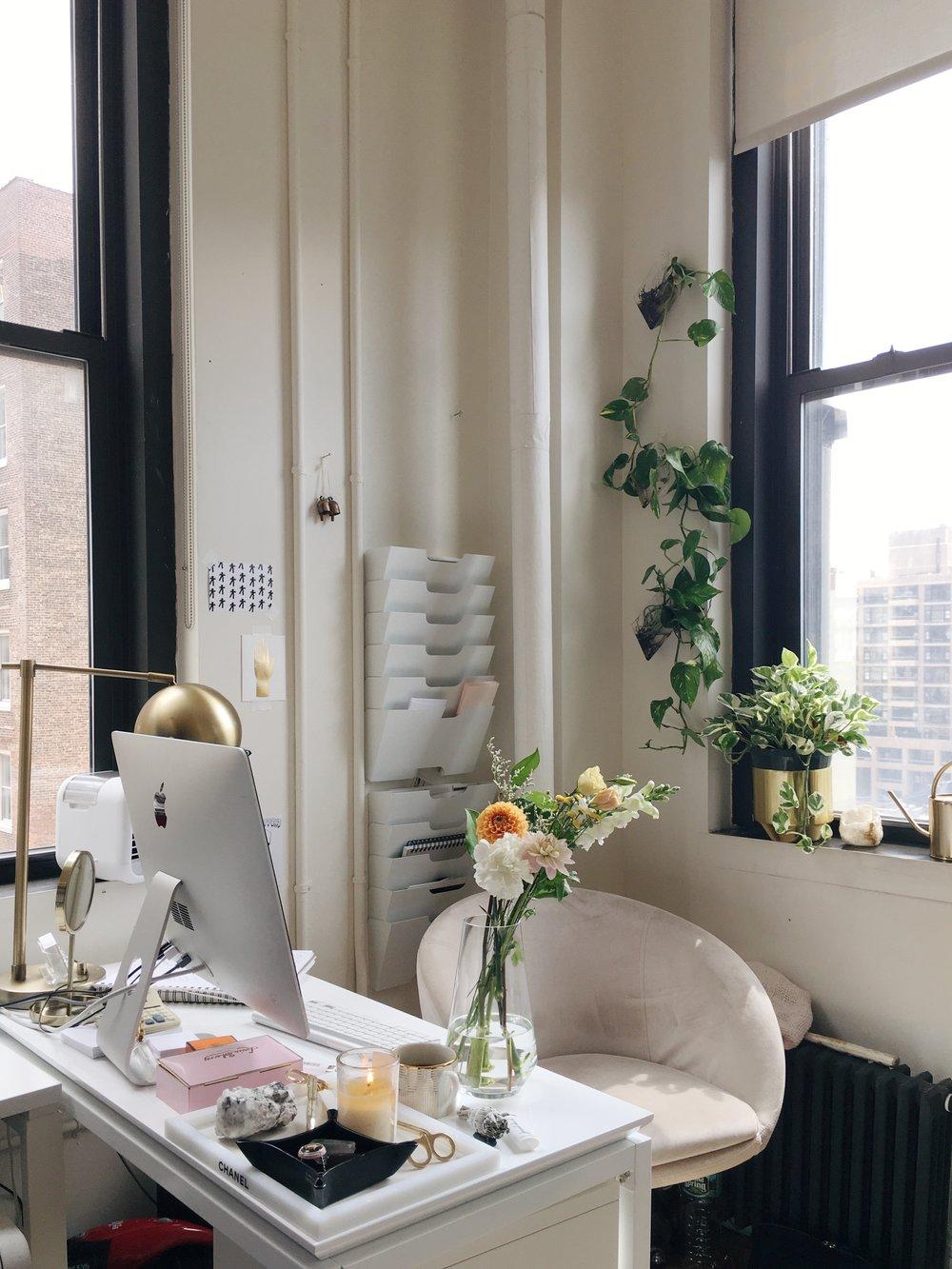 美美的小辦公室(花是我當天送給老闆的喬遷禮物)