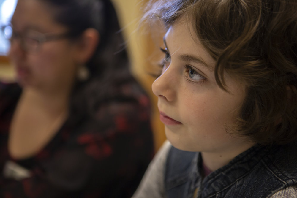 """Girls' Science Adventure workshop participant, Emma DeCicco, 10, is an aspiring astronomer.   """"I think I'd want to look through telescopes and see new things, that nobody has ever looked at before,"""" she said."""