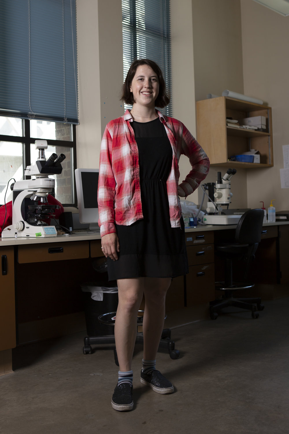 """Anne Fulton is a geochemistry graduate student and coordinator for Women in Graduate Science's Joint Undergraduate-Graduate Mentorship Program (JUMP). She became involved with the mentorship program to show undergraduate students that there is a place for them in science despite a lack of diverse representation in full-time faculty.  """"You need to be able to see yourself in those positions,"""" she said, """"Otherwise you'll be like, 'I don't see myself being a professor because there's nobody I can relate to in that position.'""""  Currently her research examines the geochemistry of a supervolcano in Eastern California that erupted 700 years ago."""