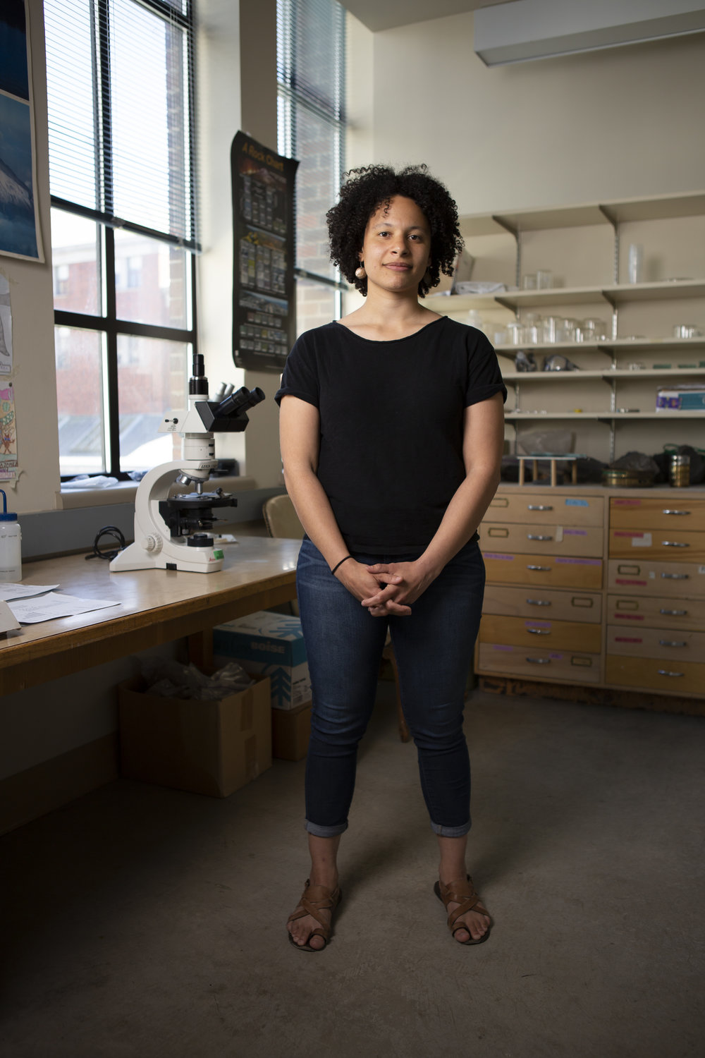 """Michelle Muth is a second-year geochemistry Ph.D. candidate and the outreach chair for Communities for Minorities in STEM. For most of her life, however, she wanted to be a writer.  """"Growing up I never saw myself as somebody who would go into the sciences,"""" said Muth, """"I think in part that stems from a lack of representation of women and minorities in science.""""  Now, Muth studies the chemistry of crystals formed in volcanic magma deposits to understand sulfur cycles."""