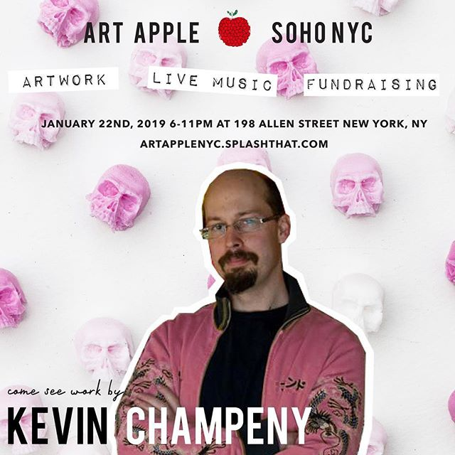 Join us tomorrow at ART APPLE NYC 🍎featuring work by Kevin Champeny - 198 Allen St NYC 6:00 - 11:00PM