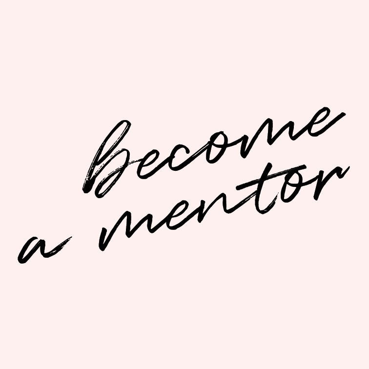 Become a mentor.   I've been blessed to have several really wise, intelligent, and talented people pour into my life in both spiritual and professional capacities. It seems only natural to pass that on to someone else, give a hand up to another dreamer.