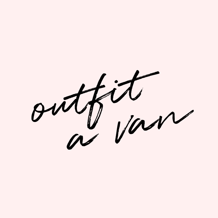 Outfit a van for cross-country travel.   Joshua and I have talked about doing this almost since the day we first met. Step 1: outfit a van. Step 2: Take a few months off of life. Step 3: Travel the states. Seems simple enough, right?