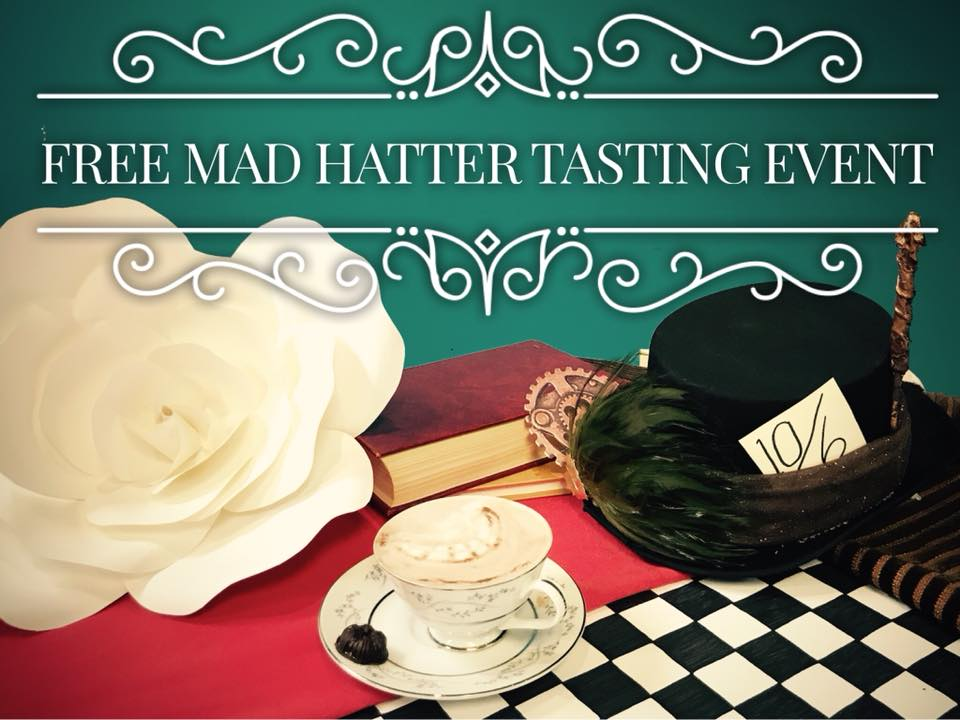 """Join us for a night in Wonderland for a free tasting of the Mad Hatter's treats, prepared exclusively at The Tea Press Cafe.  Craft your own card soldier to help you paint the roses red and display your favorite quotes from one of the most beloved literary classic of all time.  Of course, enjoy a secret menu only the Cheshire Cat could approve.  Costume is always encouraged and rewarded. """"I'm afraid I can't explain myself, sir. Because I am not myself, you see?"""" -Lewis Carroll"""