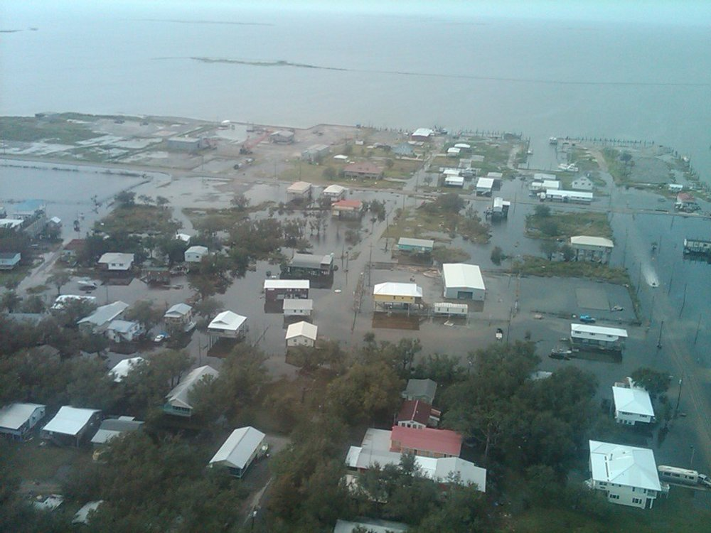 Grand Isle after Hurrican Isaac in 2012