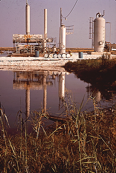 Petroleum installation in Grand Isle in 1972