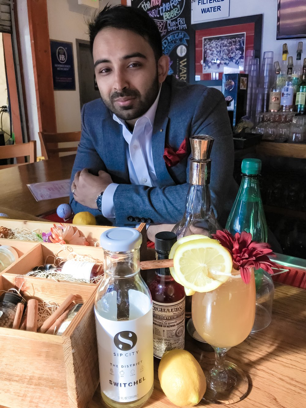 "Donnavon Lalputan - ""I think Sip City is a great way to go because you can use it with or without alcohol while having that one base product at your bar."""