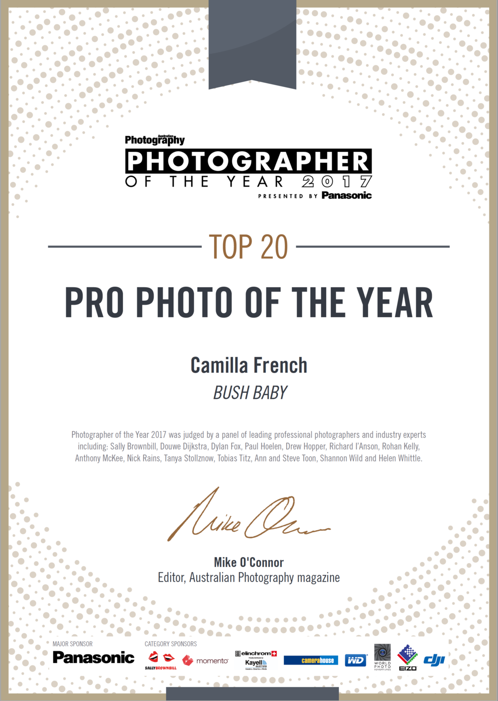 Australian Photograpy of the Year Pro Photo of the Year Top 20