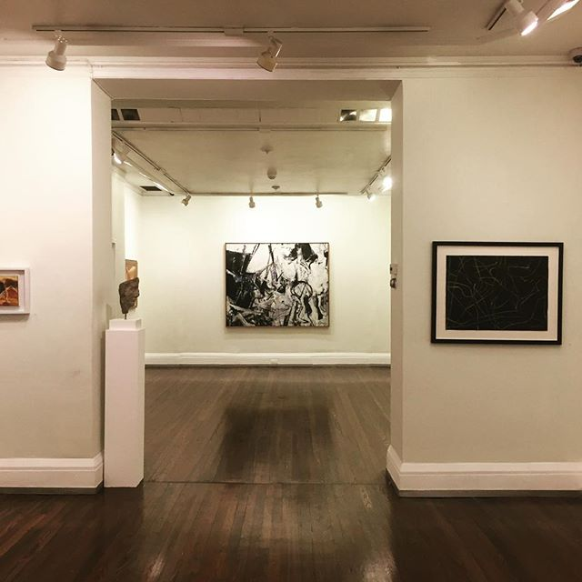 "Congratulations to Ro Lohin @rolohin and all those involved in organizing a wonderful centennial exhibition of Nicolas Carone's  work at The New York Studio School. ""Nicolas Carone: The Thing Unseen"" on view through October 15 @ny_studioschool @nyss_aa #nicolascarone #painting #centennial #thethingunseen"