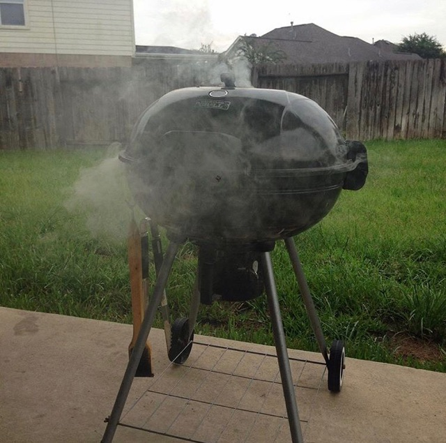 Pictured Above: The charcoal grill that Todd's BBQ adventures started on!