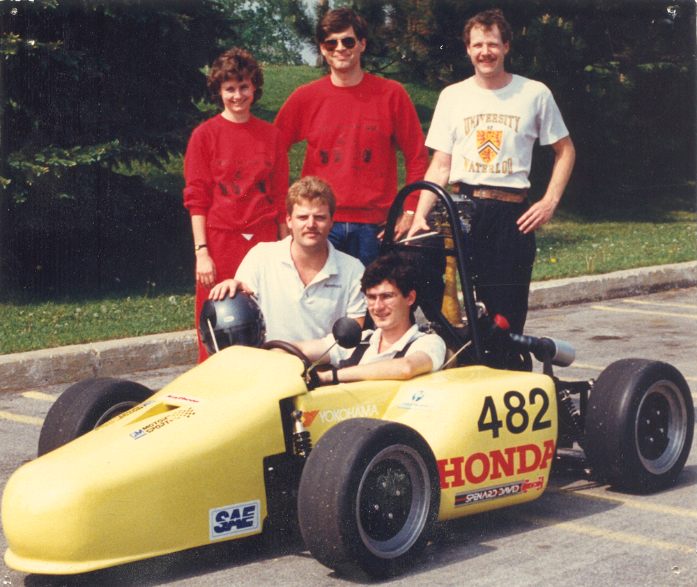 The 1987 team and car