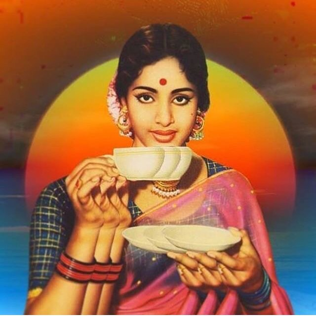 Coffee/(no date) vintage Indian coffee ad via @sonyak #hindi #coffee #psychedelicart