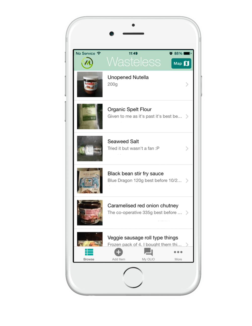 A Simple Way to Reduce Waste - Passively track the condition of food you have in your home with our app, Wasteless..