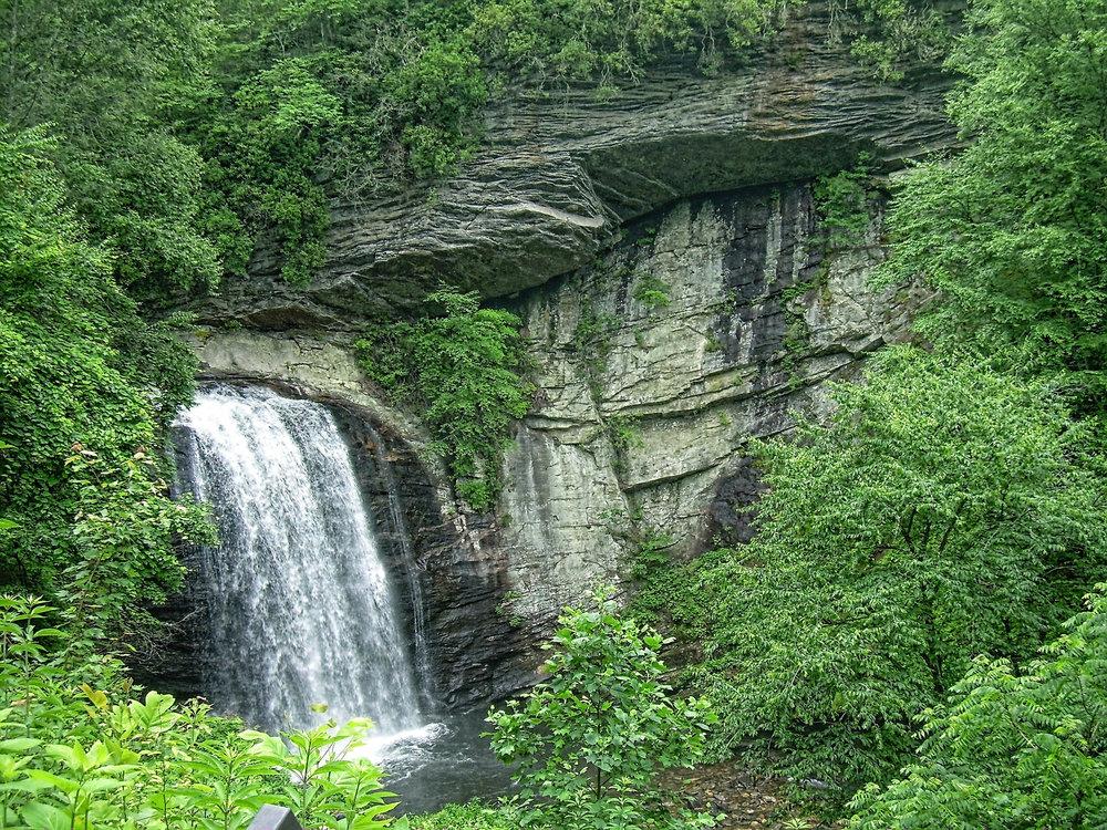 Canva - Waterfall, Looking Glass Falls, Pisgah Forest, Nature.jpg