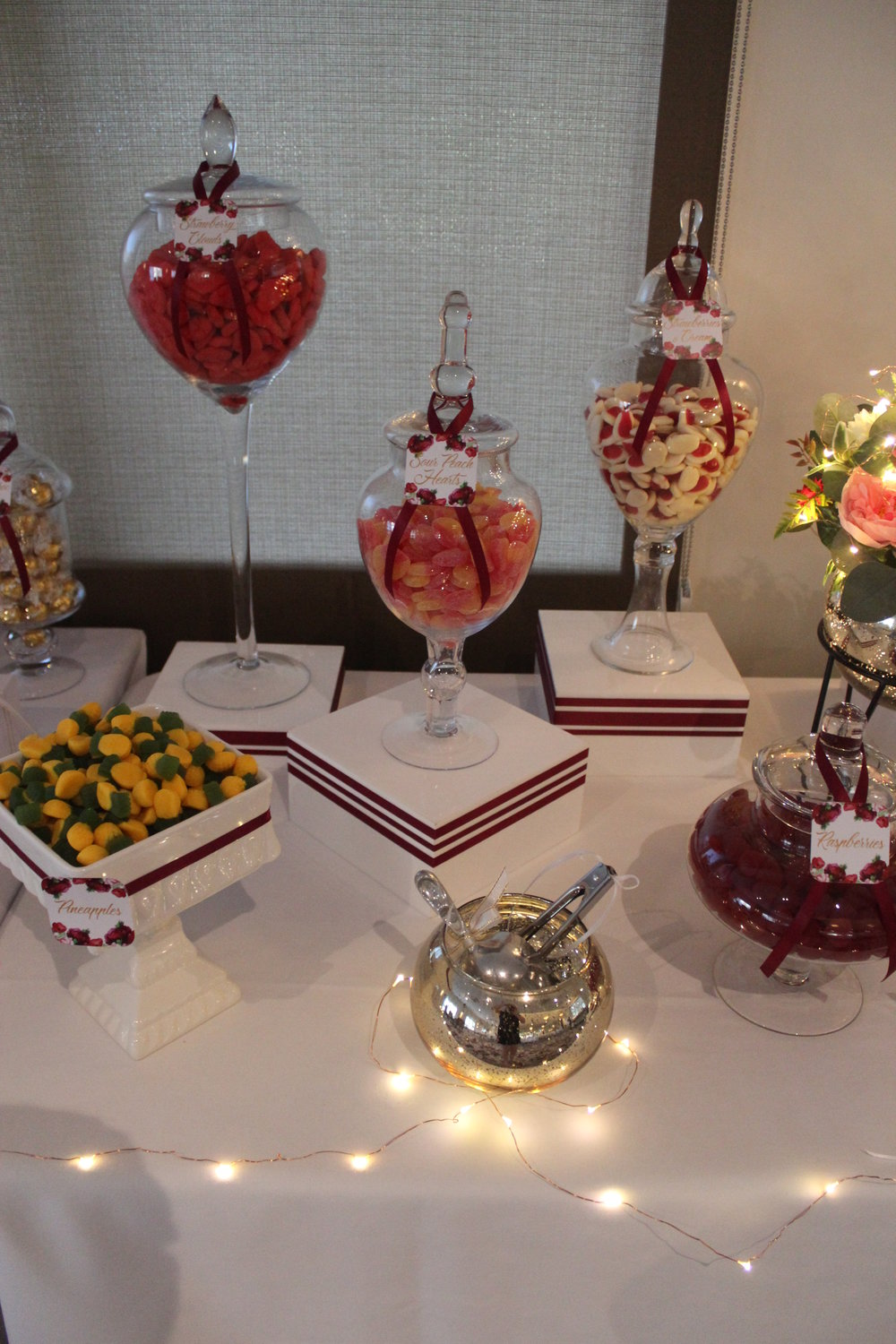 Pink Red Gold Lolly Buffet