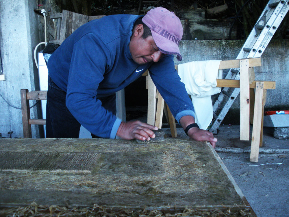 I first met Julio Chichicaxtle at the  Feria Maestros del Arte  in November 2011 and was invited to his studio in the remote mountainous village of Puhuatlan, Mexico.  You can read all about this adventure in  Paper Slurry.