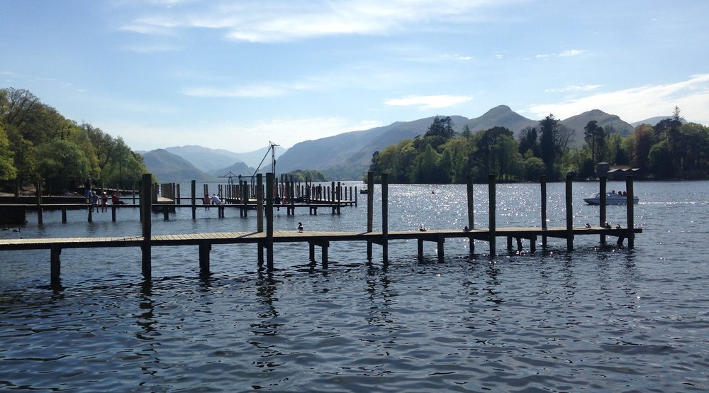 View of Derwent Water, the lake in Keswick, England
