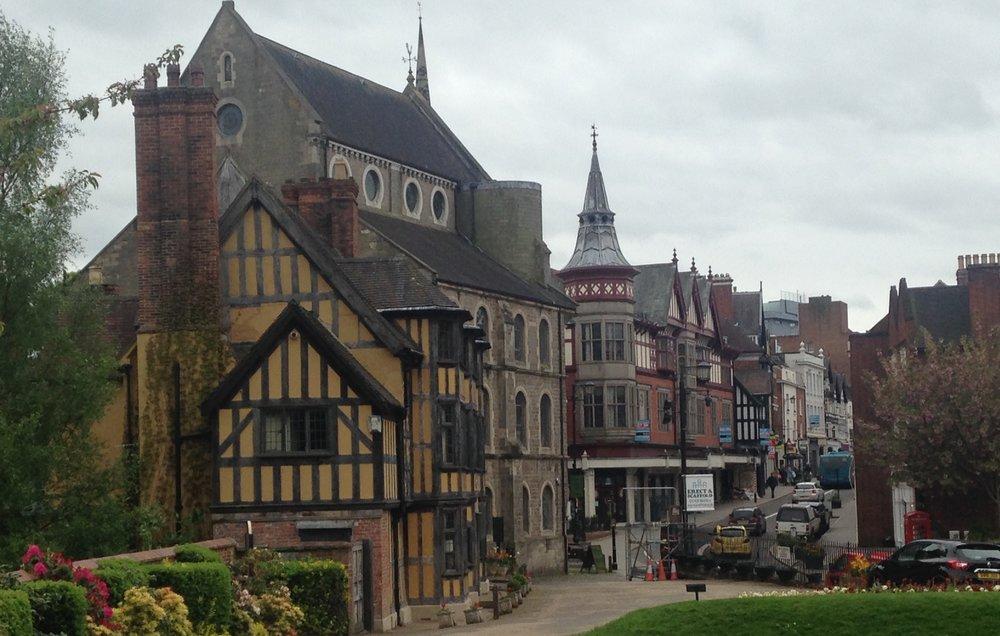 Shrewsbury street scene