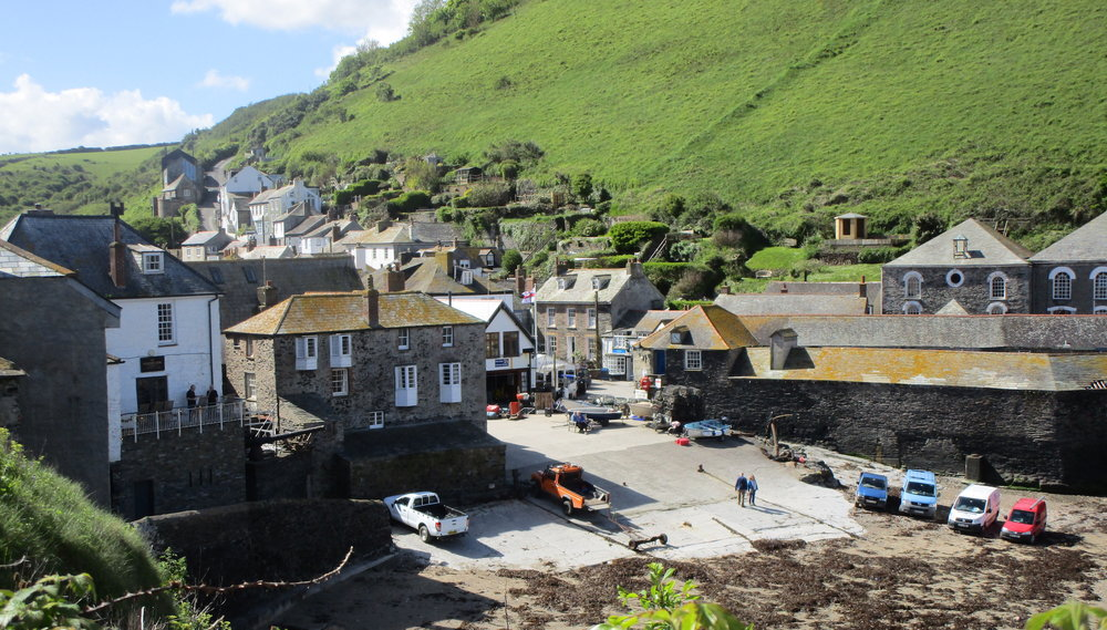 The iconic harbour setting of Doc Martin in Port Isaac, Cornwall.