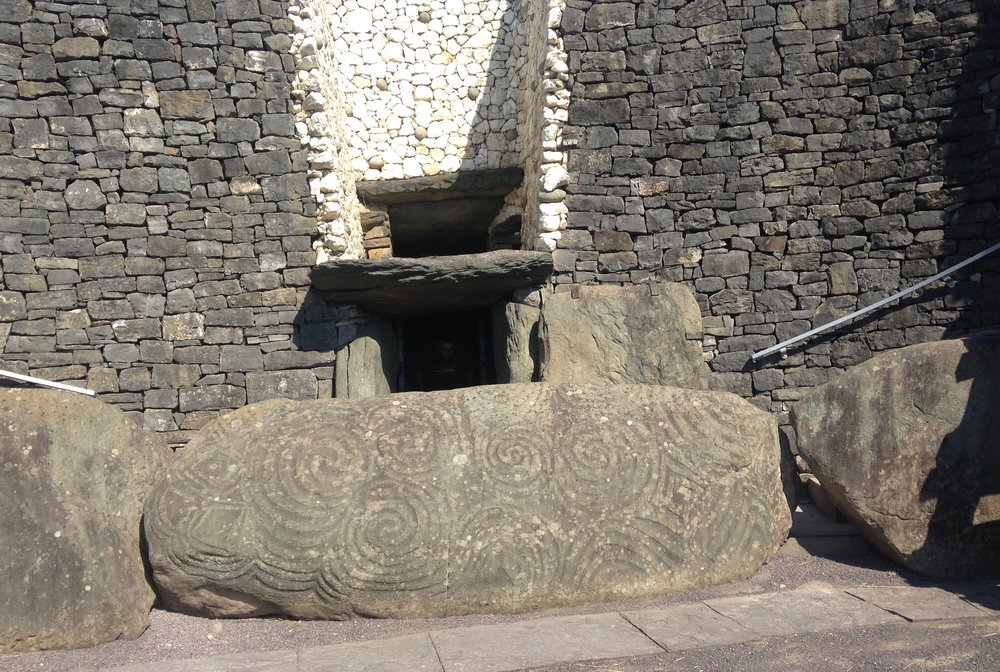 The entrance to Newgrange, Ireland