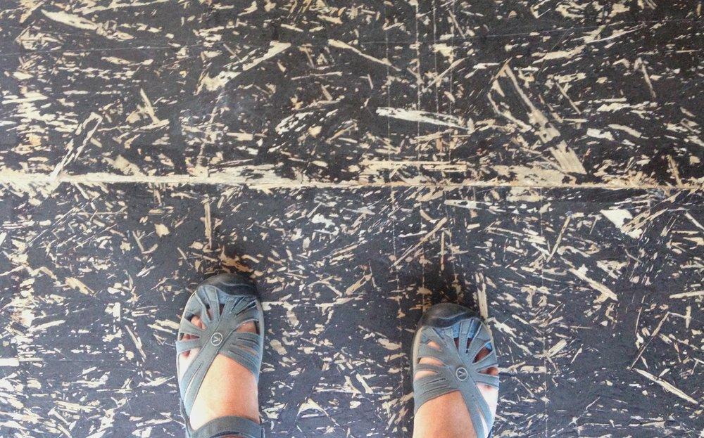 Where to begin? The floor of la filature.