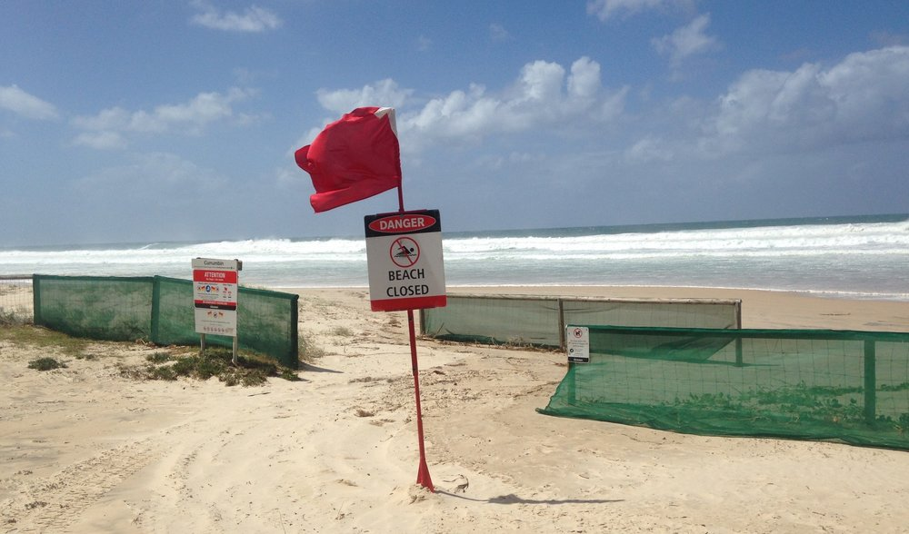 Currumbin beach - closed due to extreme wild weather