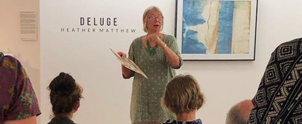 Deluge ~ artist talk at M-Arts gallery. Photo credit Ruth Della