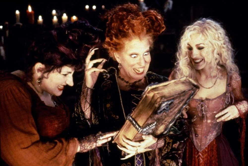 Hocus Pocus  (1993), a movie that may have inspired me to love books with unhealthy intensity.