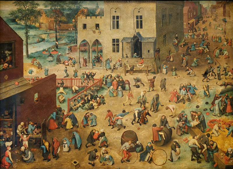 "Pieter Brugel the Elder ""Children's Games"" (1560). Also known as ""The Yard Duty's Nightmare""."