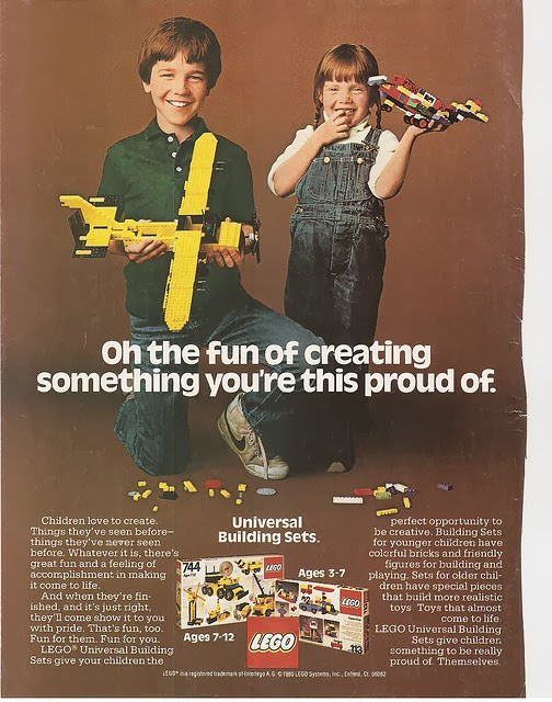 Retro LEGO add from  Fat Brain Toys