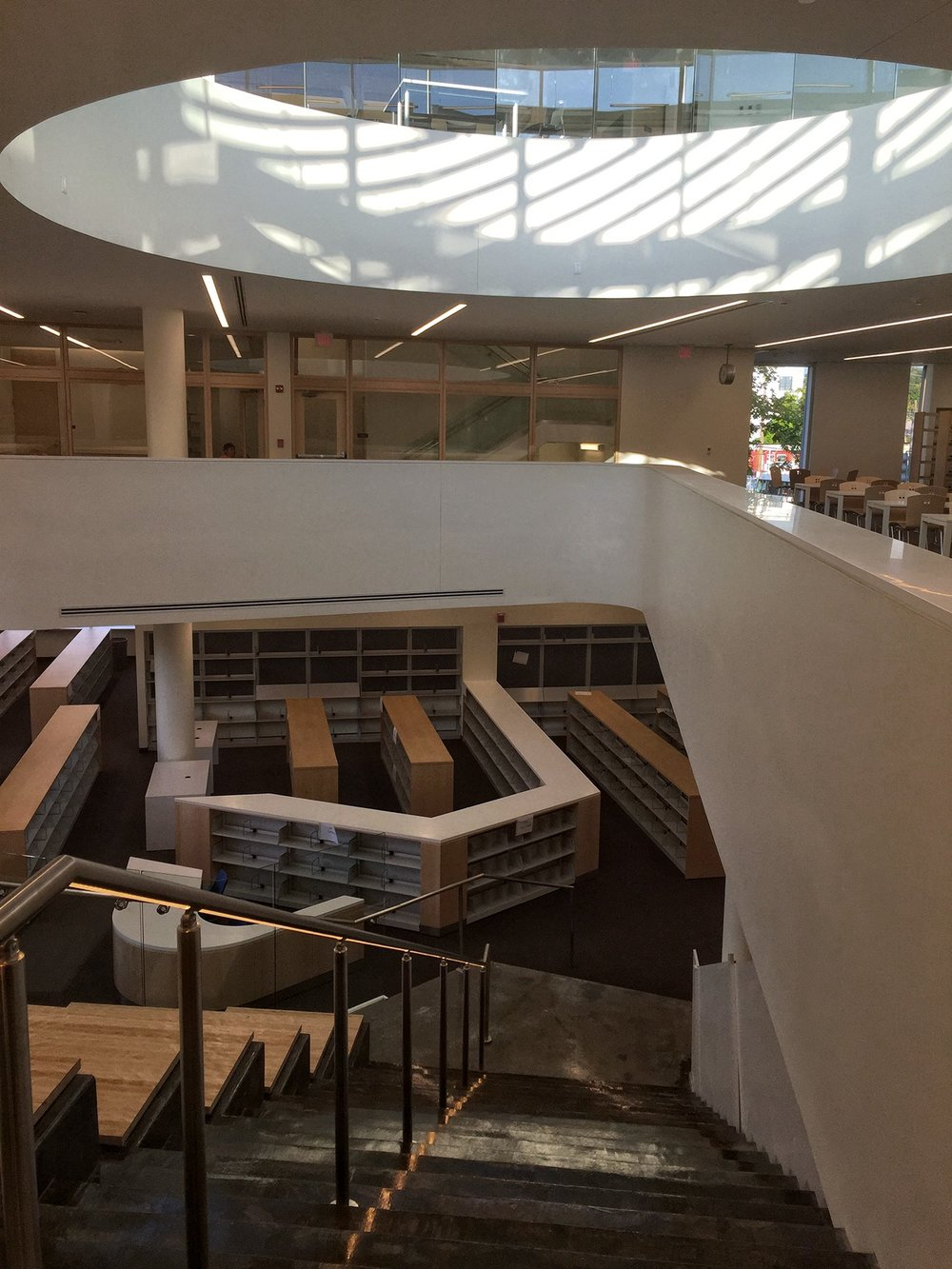 Woodridge Library: Cleaning, Carpentry, Finishing, Painting, and Landscaping