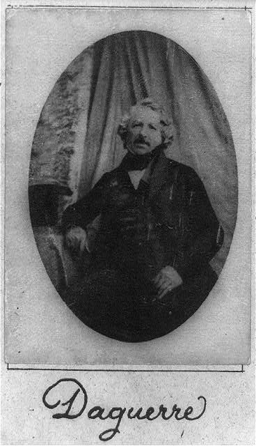 Louis Daguerre, Library of Congress.