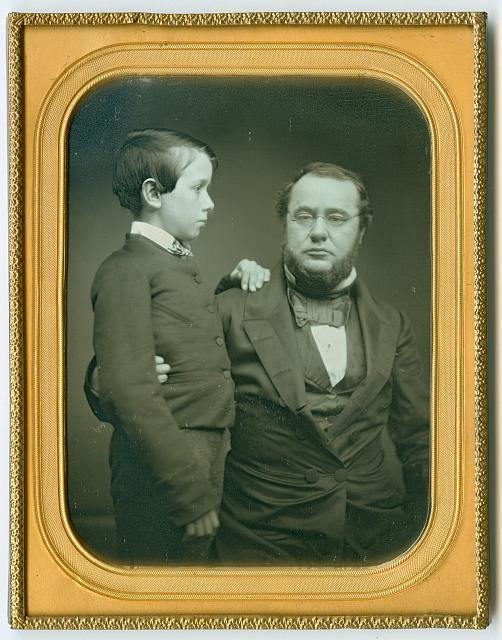 Daguerreotype, Father with his Son, Library of Congress