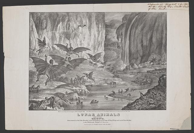 Lunar animals and other objects Discovered by Sir John Herschel, Library of Congress.