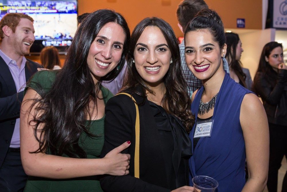 "Shanel (Cohort 1), Farah (Cohort 2), and Donna (Cohort 1), at our paneled event ""Persian Jews in Tech and Entrepreneurship."""