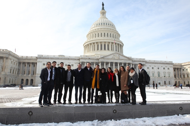 Fellows from Cohorts 1 at Capitol Hill while at AIPAC Policy Conference