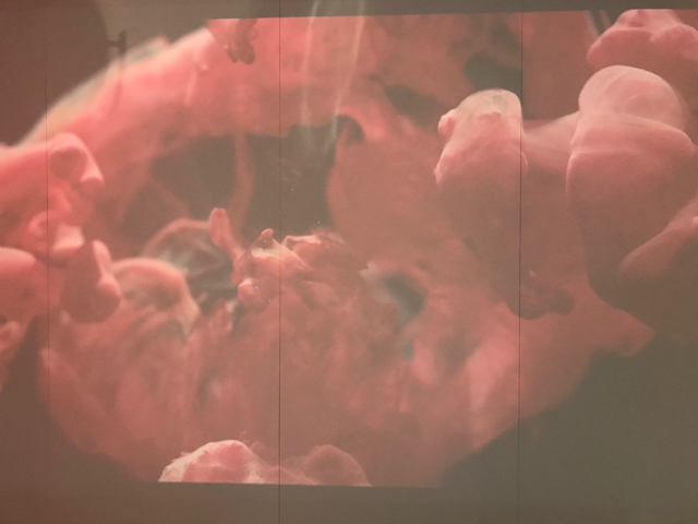 A projected video metaphor for the winemaking process.  Fermentation is a wild ride!