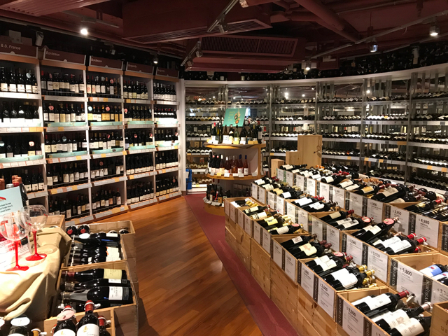 There are plenty of wine shops in Hong Kong and Wine is as readily available as in many western cities.