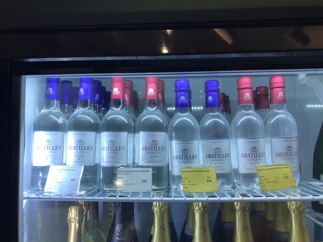Just what every Francophile needs, water from Bordeaux. A French associate compared this to buying bags of oxygen from the Canadian Rockies. Let us know if you're in the market. We know a guy.
