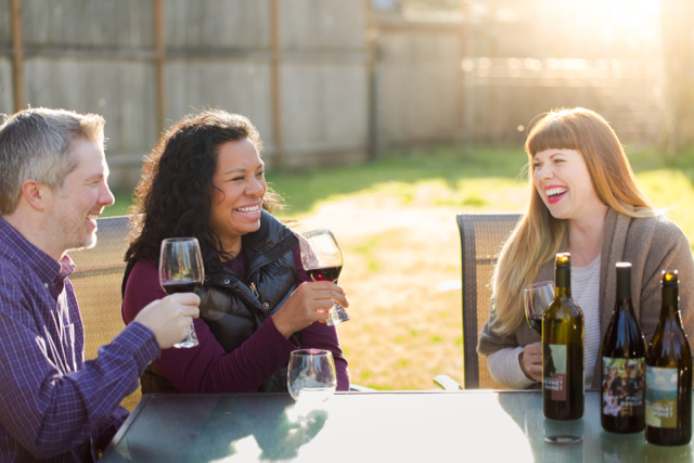 It's a proven fact that sharing wine makes you more popular.
