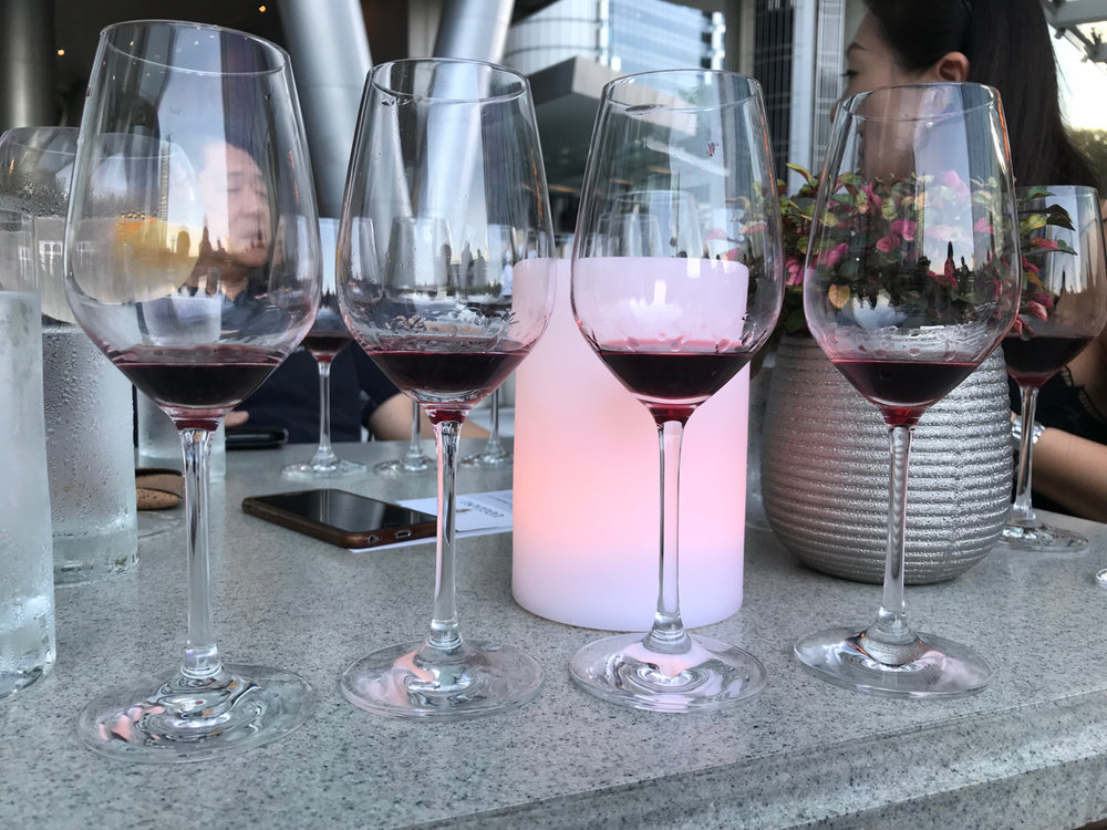 """If you're basically on the equator and the water glasses are sweating profusely, """"al fresco"""" is not the right setting for a Chianti tasting."""
