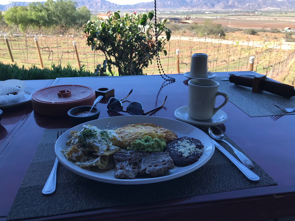 No matter the meal, it tastes even better vineyard side. breakfast at Hacienda GUADalupe.