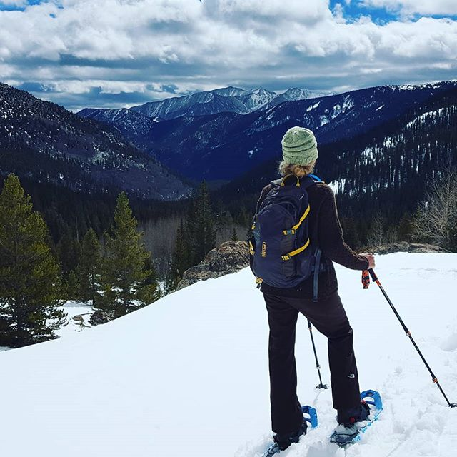 A fun day of snowshoeing, avalanche awareness, and mountain navigation practice. Thanks Gina for choosing BVMA for your spring adventure! #BVBackcountry #GoThereStartHere