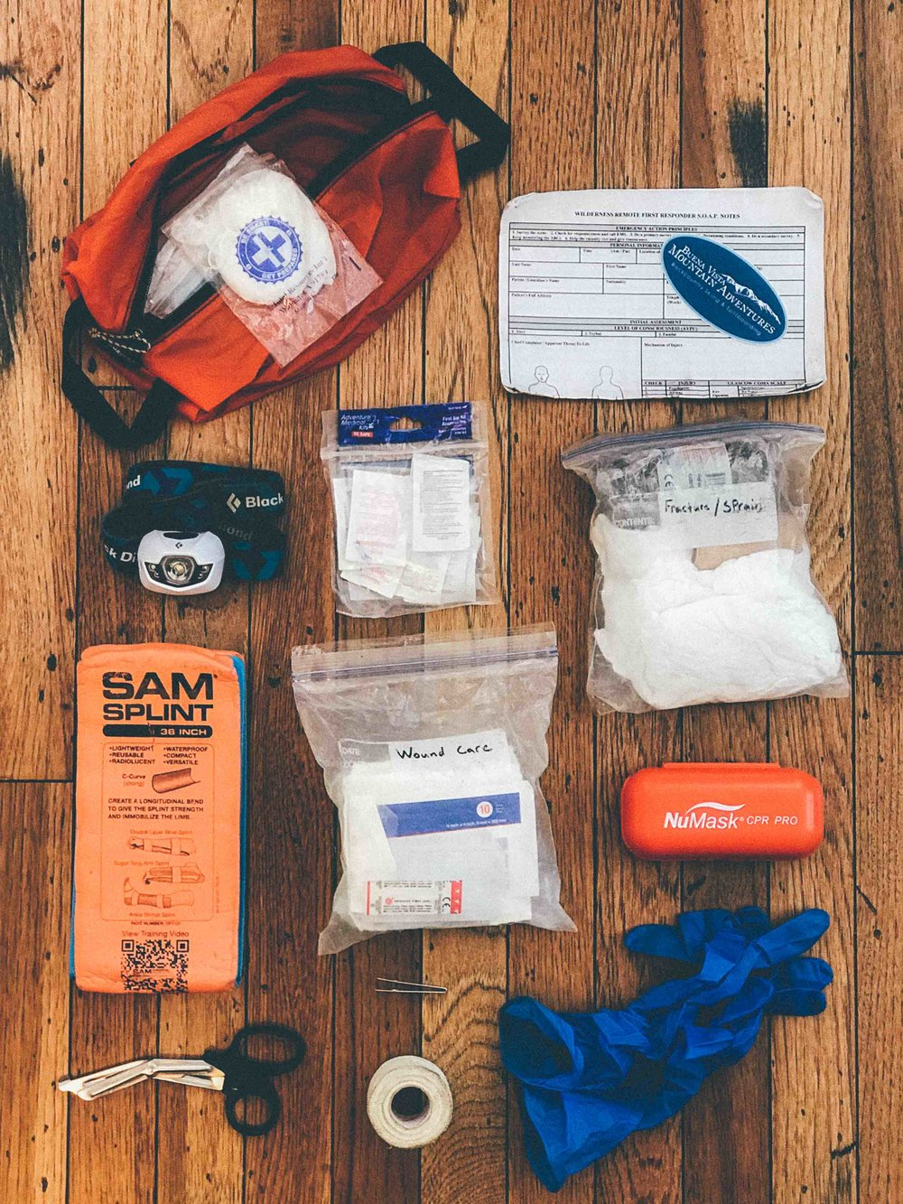 First Aid Kit - I am continually taking note if I used anything out of my first aid kit that may need to be replaced or restocked.I also, think about what kind of emergencies I might be dealing with each tour; every outing can pose different threatsI also consider how long I will be out in the field